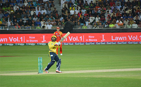 Tamim Iqbal of Peshawar Zalmi during his knock against Islamabad United during the PSL match in Dubai on Febraury 5 2016. (PSL)