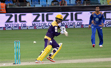 Ahmed Shehzad of Quetta Gladiators during his knock against Karachi Kings in the PSL in Dubai on February 6 2016. (@PSL)