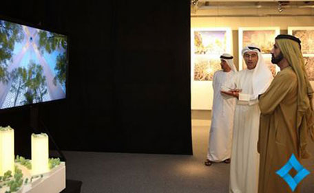 Sheikh Mohammed visited a show held at Burj Khalifa, displaying designs by six consultancy companies bidding for the designing package of the tower contract. (Al Bayan)