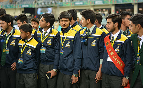 The Peshawar Zalmi Foundation flew out APS students to watch the inaugural edition of the PSL. (@PSL)