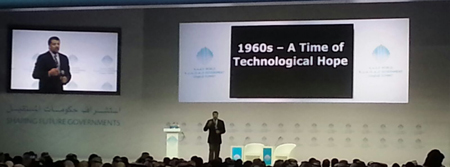 Prof Tyson speaking at WGS. (Supplied)