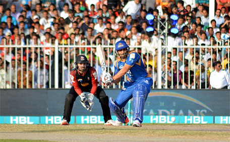 Ravi Bopara of Karachi Kings during his unbeaten 71 against Lahore Qalandars in Match 11 of PSL at Sharjah Cricket Stadium on February 12 2016. (@PSL)