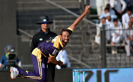 Grant Elliott of Quetta Gladiators claimed four wickets during Match 14 of PSL against Karachi Kings at Sharjah Cricket Stadium on February 13 2016. (@PSL)