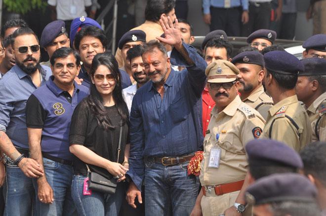Bollywood actor Sanjay Dutt and Manyata. (Sanskriti Media and Entertainment)