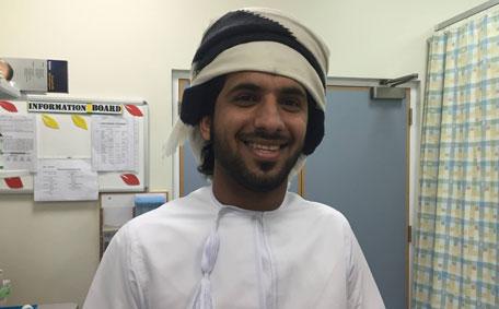 Abdul Rahman Mahdhushi, 23, is an Omani citizen working as an X-Ray technician in an Omani hospital. (Supplied)