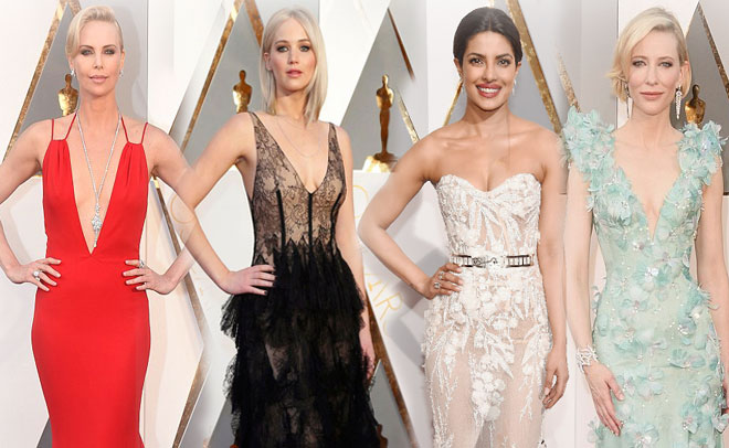 The Oscars red carpet is nothing short of a spectacular 150 meters long runway where celebrities display the best of fashion finery. (Agencies)