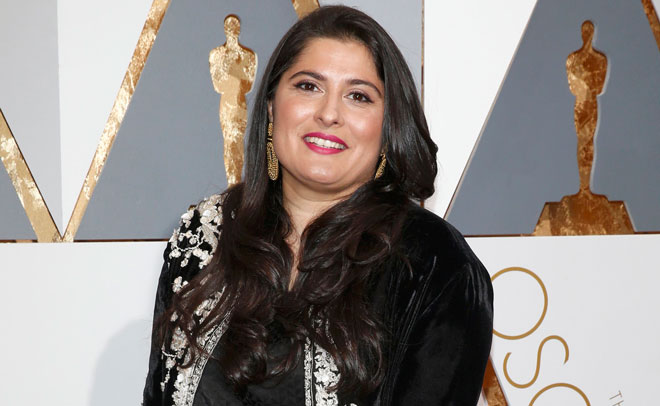 Sharmeen Obaid-Chinoy, nominated for Best Documentary Short Subject Film for 'A Girl in the River: The Price of Forgiveness', arrives at the 88th Academy Awards in Hollywood, California February 28, 2016. (Reuters)