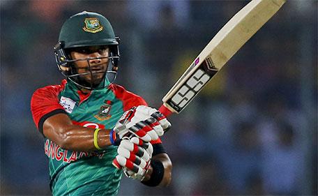 Bangladesh's Sabbir Rahman plays a shot during the Asia Cup Twenty20 international cricket final match against India in Dhaka, Bangladesh, Sunday, March 6, 2016. (AP)