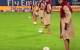 Photo: Emirates crew 'perform' on football field