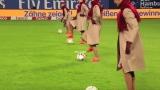 Photo: Emirates crew 'perform' on football field