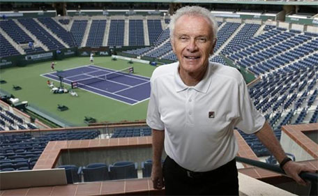 The BNP Paribas Open tennis tournament chief executive officer Raymond Moore poses at the BNP Paribas Open ATP and WTA tennis tournament in Indian Wells, California, in this March 7, 2013 file photo. (Reuters)