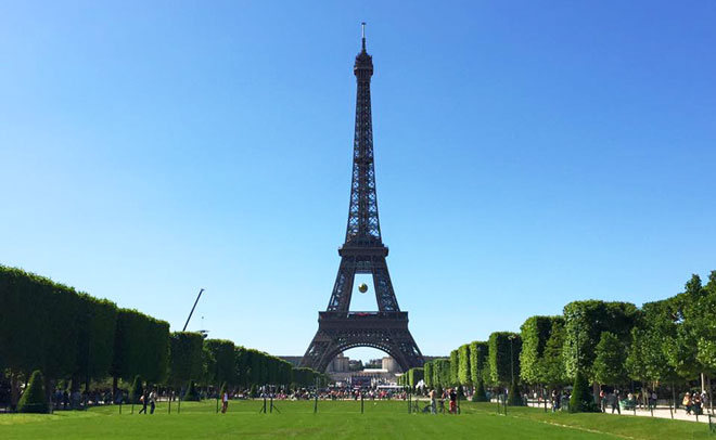 The Eiffel Tower in Paris. (Pic: Sahany)