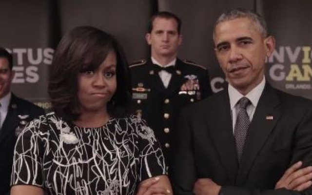 Obamas challenge Queen and Prince Harry [video]