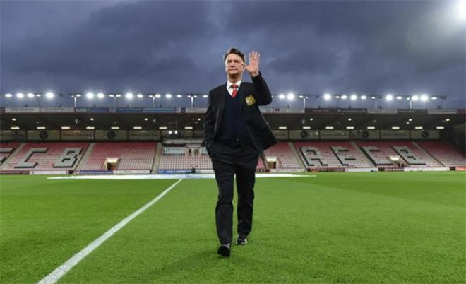 Manchester United manager Louis van Gaal before the match against AFC Bournemouth at Vitality Stadium - 12/12/15. (Action Images via Reuters)