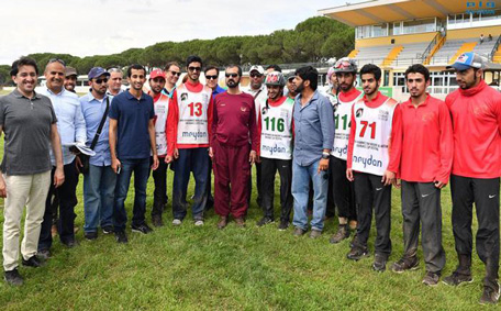Sheikh Mohammed at the first round of the Sheikh Mohammed bin Rashid Endurance Festival, being held in Tuscany, Italy. (Wam)