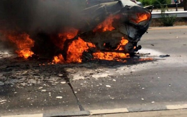 Driver burns to death on Al Khail Road