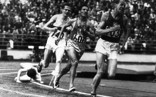 Photo: Emil Zatopek: Unique distance treble
