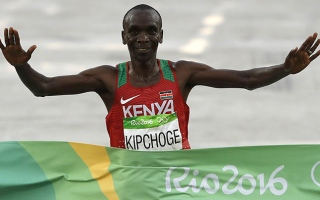 Photo: Kenyan Kipchoge romps to Rio marathon gold