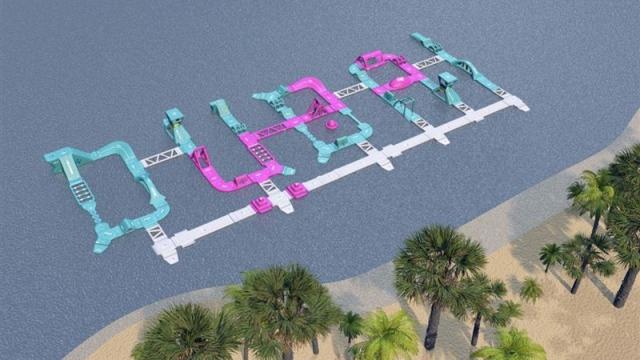 Slide into fun as Dubai opens region's largest inflatable park