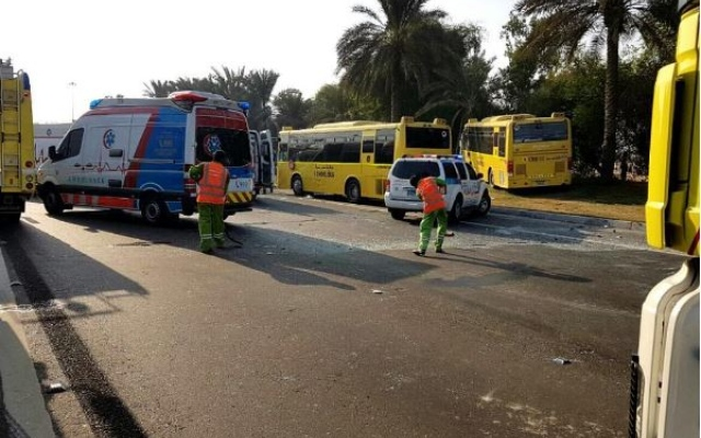46 injured in Abu Dhabi accident involving two school buses; one serious