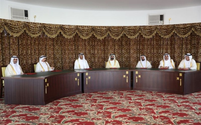 Vice President, Mohamed bin Zayed and Rulers of the Emirates meet at the Union House