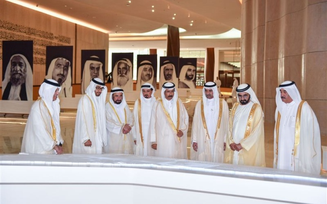 Vice President, Mohamed bin Zayed and Rulers of the Emirates inaugurate Etihad Museum
