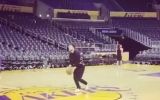 Photo: Justin Timberlake makes incredible basketball shot from half court