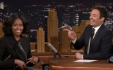 Photo: Michelle Obama appears on 'The Tonight Show' for the last time as first lady