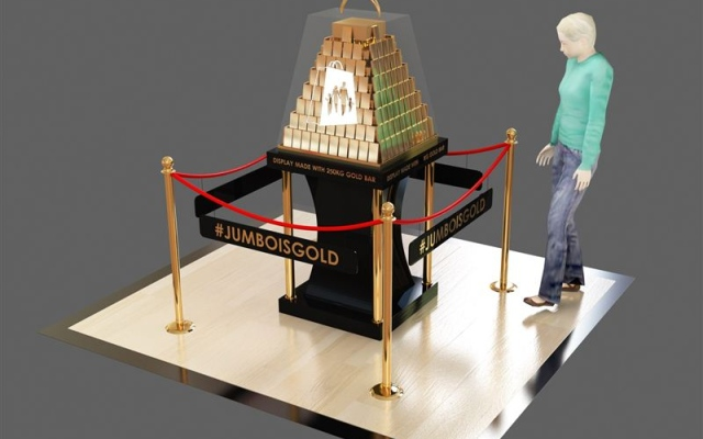 DSF showcases shopping bag featuring 250kg of gold