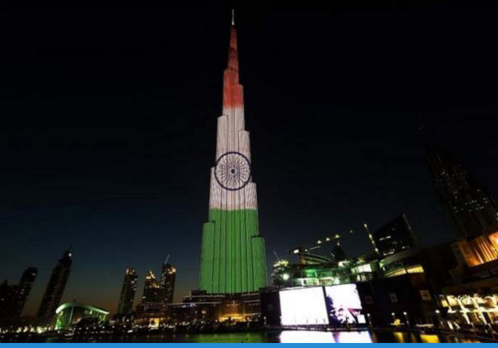 Burj khalifa to be lit with colours of indian national for Lit national