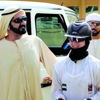 Photo: Mohammed bin Rashid attends Jamilti Endurance Ride Cup in Saih Al-Salem