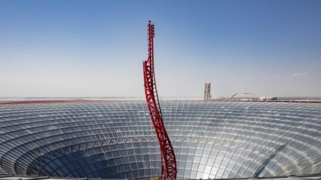 Ferrari World Abu Dhabi opens its latest rollercoaster, 'Turbo Track'