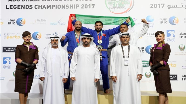 Hamdan attends Abu Dhabi World Professional Jiu-Jitsu Championship finals