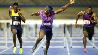 الصورة: Olympic champion McLeod sets sizzling 110m hurdles pace