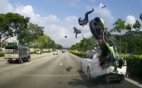 Photo: Horrible motorbike crash caught on camera