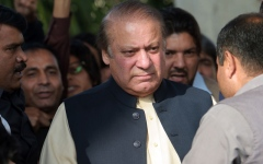 Photo: Pakistan suspends judge who convicted ex-PM of corruption