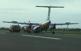 Photo: Flybe plane crash lands at Belfast airport