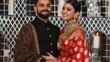 Photo: Virat Kohli and Anushka Sharma New Delhi reception