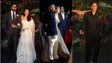Photo: Aishwarya Rai, SRK at Anushka Sharma and Virat Kohli wedding reception in Mumbai