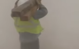 Photo: Workers get caught in dramatic texas sandstorm