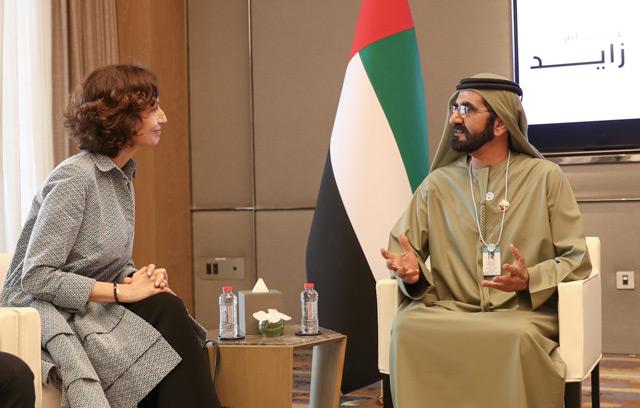 Sheikh Mohammed meets UNESCO Director-General