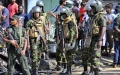 Photo: Mobs clash with police after Sri Lanka emergency