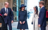 Photo: Meghan Markle attends first royal engagement with Queen Elizabeth