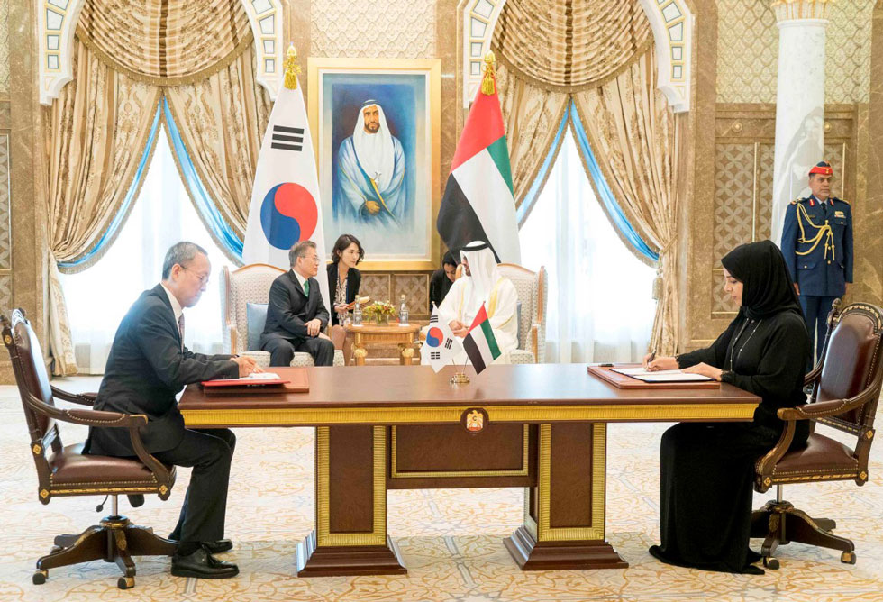 Mohamed bin Zayed receives South Korean President - Emirates24|7