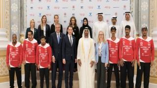 الصورة: Mohamed bin Zayed and Sebastian Kurz meets Special Olympics UAE Football Team