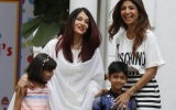Photo: Aishwarya and Aaradhya Bachchan attend Shilpa Shetty's son Viaan Kundra' Birthday bash