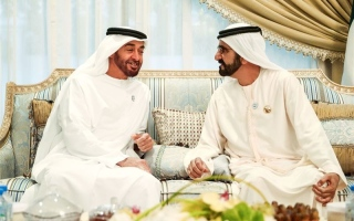 Photo: Mohammed bin Rashid, Mohamed bin Zayed congratulate Prime Minister of Yemen