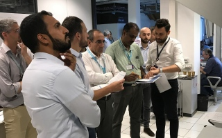 Photo: RTA attends tests of telecommunication systems of Route 2020 in Italy