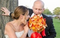الصورة: Brides can now opt for a pizza bouquet