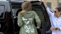 الصورة: First lady's 'don't care' jacket is a gift to memers online